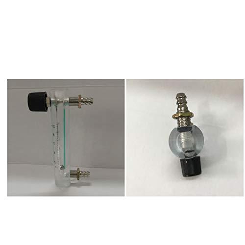 cnbtr lzq-3 Tube Typ Acryl Flowmeter Gas Acryl Metall Armatur 0-10 lpm Schwebek/örper Durchflu/ßmesser f/ür Luft