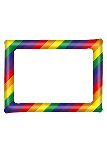 Henbrandt - Cornice gonfiabile per selfie con motivo arcobaleno gay orgoglio per eventi in maschera, accessori per cabina fotografica