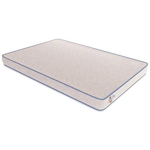 Baldiflex Emporio Materasso Singolo Easy Basic M, H 15 cm in Poliuretano Espanso Waterfoam, Ortopedico, Antiacaro, Misura 80x190 cm