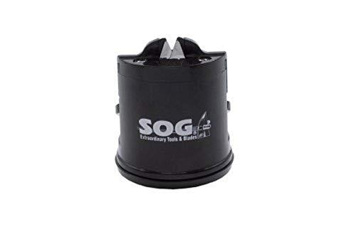 SOG afilador para cubierta SH-02 2.5 pulgadas de alto, parte inferior de succión, color negro