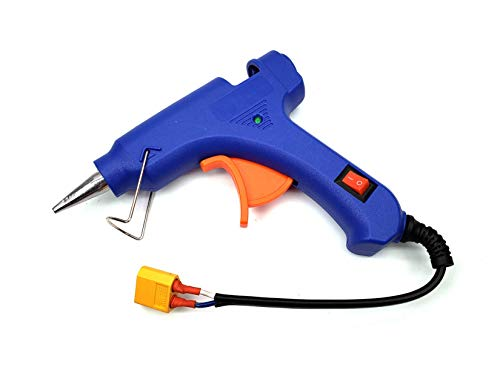 3s Lipo Battery operated 12V 10W Portable Wireless Hot Glue Gun RC heat gun with xt60 plug for RC models FPV Quadcopter field repairs outdoor fixing maintenance RC repair kit tool Arts & Crafts