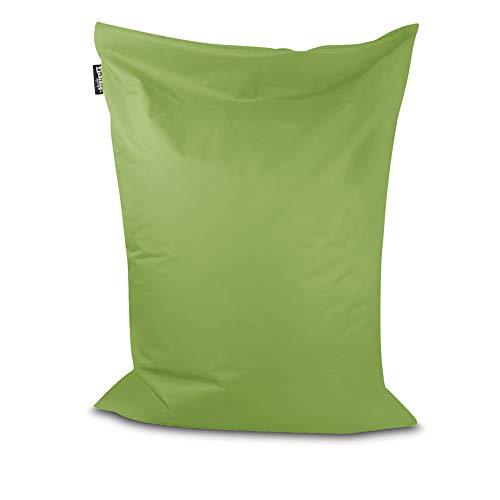 Sitzsack Bodenkissen Indoor Outdoor Riesensitzsack Größen & Farben wählbar Kinder Bean Bag Erwachsene Wasserabweisend Schmutzabweisend (Lime-100x70 cm)