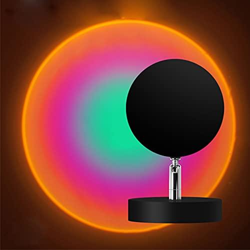 Lámparas para Proyector Al Atardecer, Soporte De Suelo Moderno Luz De Noche USB Luz De Puesta De Sol Rotación De 180 Grados Lámpara LED De Iluminación De Humor Visua Blue Purple-12w