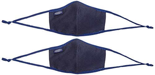 KEEN Unisex Together Cotton Face Mask Reusable, Navy, M/L, 2 Pack