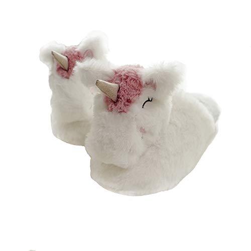 Zapatillas de Peluche de Unicornio para Interior de Mujer (38-39 EU)