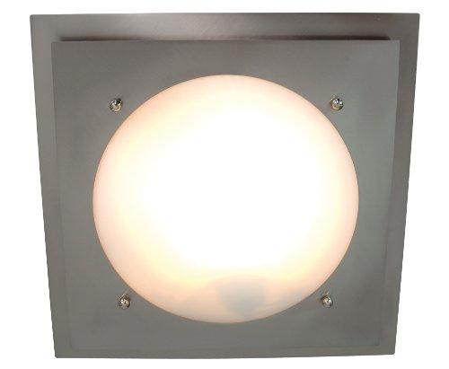 Naeve Leuchten Glasdeckenleuchte/durchmesser: 34 cm/Metall, glas/weiß 158750