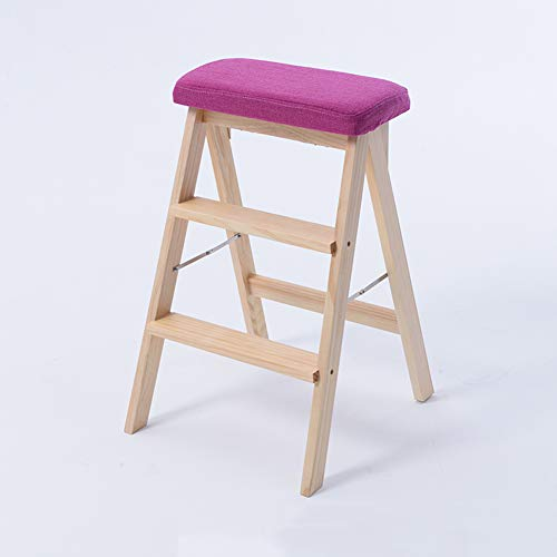 Houten gewatteerde klapstoel, Nuclear Houten stoel, Dinnende stoelen, Home Office stoelen- 65 * 42 * 46Cm (Breedte kleur)