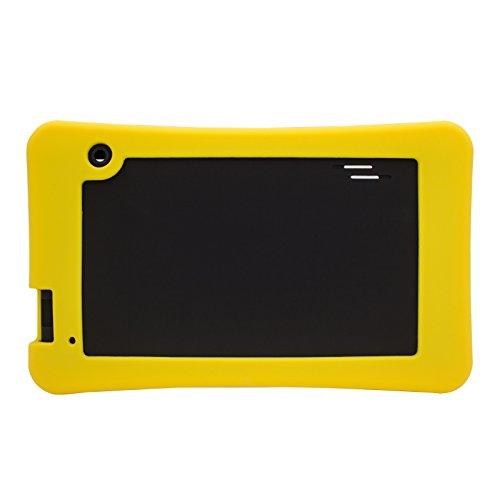 Transwon Silicone Case Compatible with Haehne 7 Inches Tablet PC, RCA RCT66723W2, Astro Tab A750, Sipobuy 7, SmarTab ST7150, Yuntab T7, DigiLand DL7006, Digiland DL721-RB/DL718M/Dl701q - Yellow