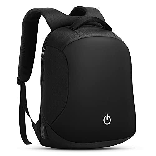 HOMIEE Anti Diebstahl Laptop Rucksack mit USB Ladeanschluss Wasserdicht Business Taschen Rucksäcke für Herren,Damen,Arbeit,Reisen,Schule,Verstecktem Reissverschluss für 15,6 Zoll Notebook