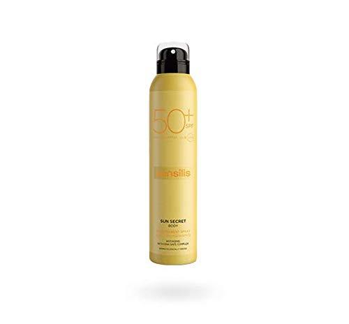 Sensilis Sun Secret - Aceite Corporal Transparente en Spray - Resistente al Agua - SPF50+ - 200 ml.