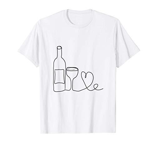 Wine Doodle - Vino de aspecto simple Camiseta