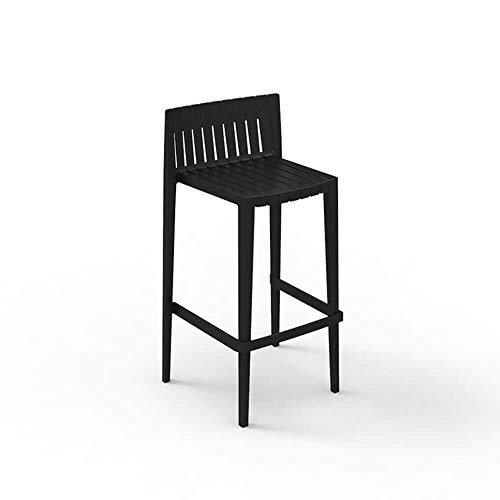 Vondom Spritz tabouret pour l'extérieur assise h. 76 cm. noir
