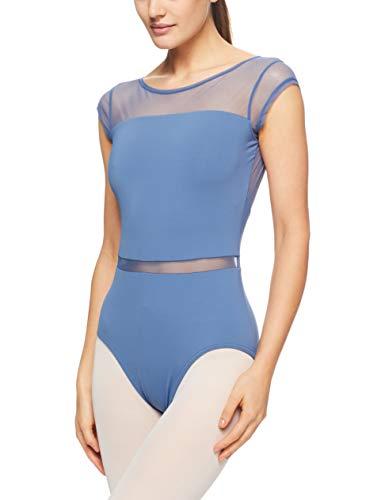Capezio Mc820w Damen Gymnastikanzug mit Flügelärmeln M Storm Blue