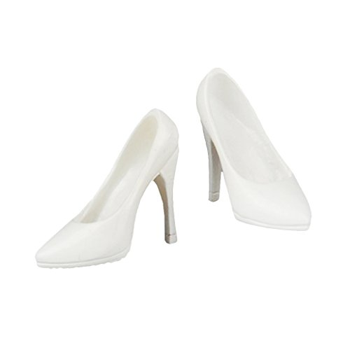 LoveinDIY 1/6 Scale High Heels Accessories for JIAOU Doll Female Action Figure Body - White