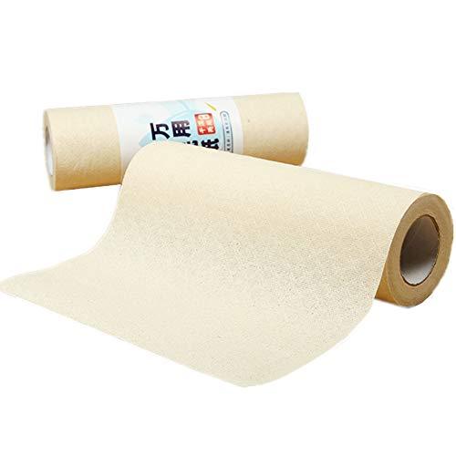 ppactvo Küchenpapier Rolle Toilettenpapier Öko-Küchenpapier Recycelte Küchenrolle Seidenpapiere für die Küche Küchentücher Papierrolle Küchentuchrollen woodcolor