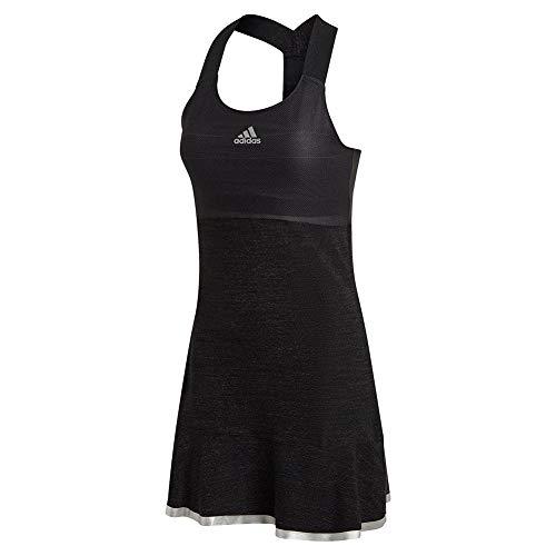 adidas Women's Tennis Y-Dress Glam On AEROREADY, Black/Silver Metallic, XL