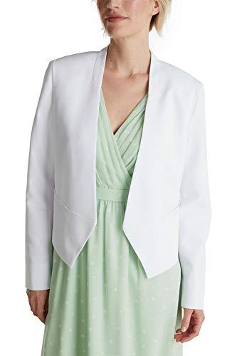Esprit 040eo1g308 Blazer, 100/Blanco, 38 para Mujer
