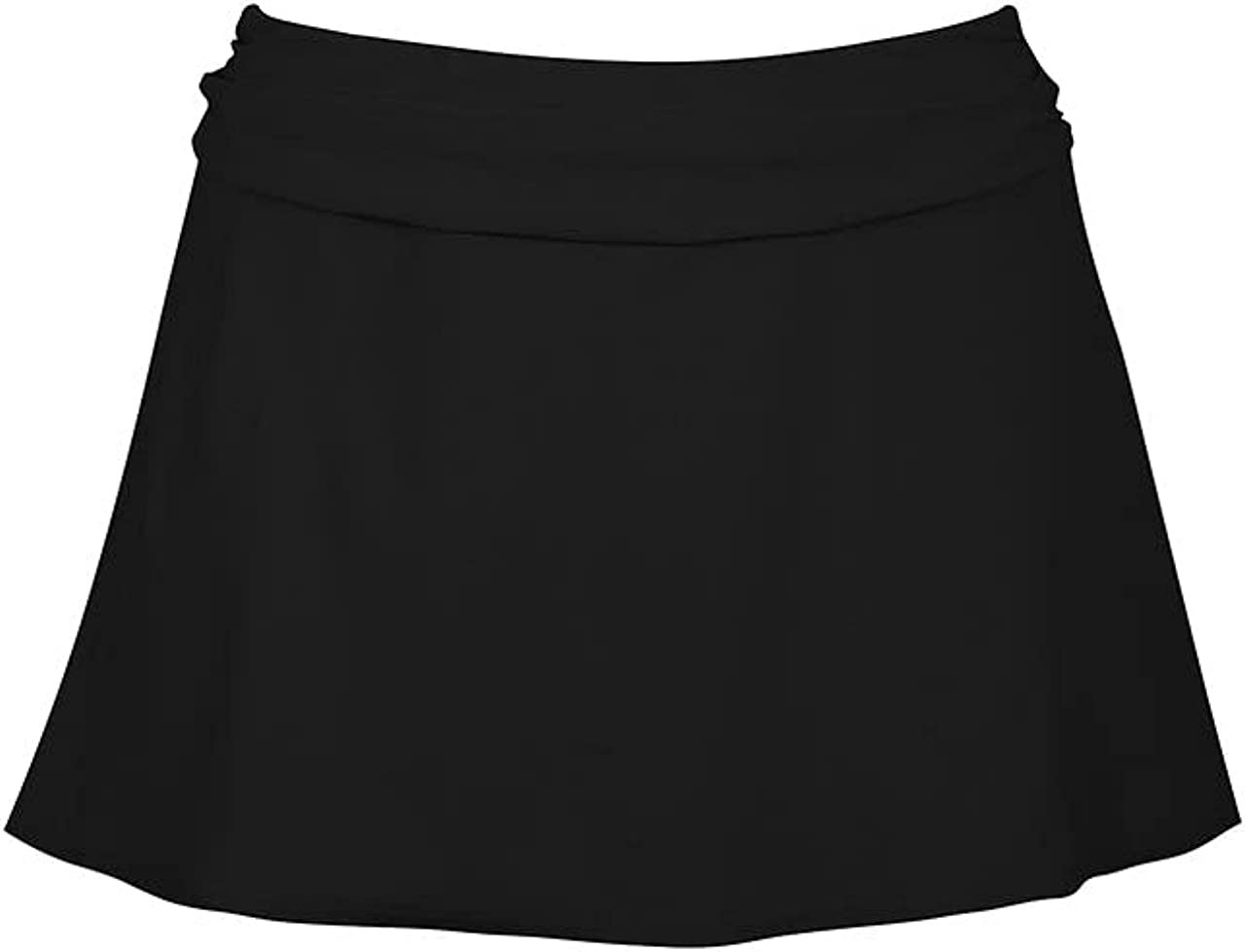Karla Colletto Banded Lace Up Skirt