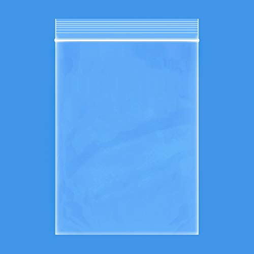 """Edvision 4"""" x 6"""" Plastic Bags, 200 Count 2 Mil Transparent Resealable Zipper Poly Bags, Reclosable Storage Bags for Jewelry Supplies, Beads, Screws, Small Items"""