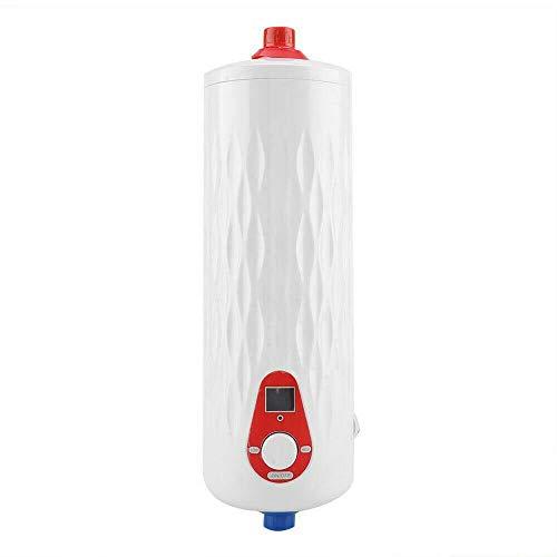Mini-Durchlauferhitzer, 6,5KW Elektro Warmwasserspeicher Tragbare Dusche Wasser Boiler Wasser Wasserkocher für Badezimmer Küche Weiß