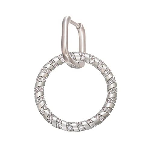 Pendientes de aro pequeños de cristal de 1 pieza Pendientes de aro redondos para mujer Joyería de fiesta de moda 3,5 CM