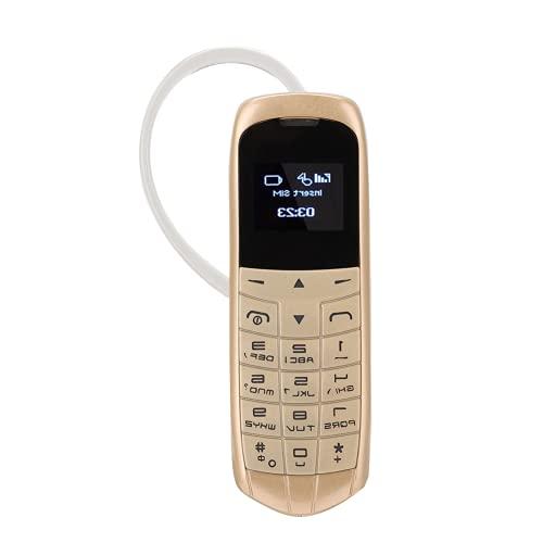 Teléfono móvil, teléfono Celular Multifuncional 260mAh Práctico con Gancho para la Oreja para Deportes para Oficina para el hogar para Conducir(Oro)