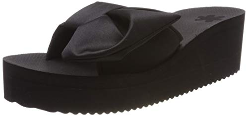 flip*flop Damen poolwedge Wing Plateausandalen, Schwarz (Black 0000), 42 EU