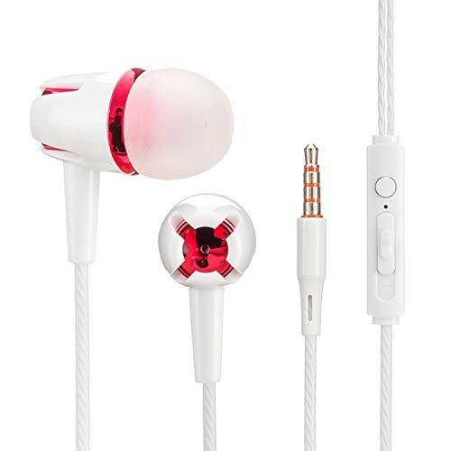 ASENTER 2 Pack Auriculares con Cable Sonido estéreo intrauditivos con Auriculares de 3.5 mm Enchufe Micrófono Control de Volumen Compatible con iPhone Samsung Xiaomi