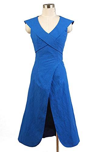 Manfis Disfraz de dragn azul para Halloween de Juego de Tronos