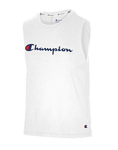 Champion Muscle Camiseta, Blanco, M para Mujer
