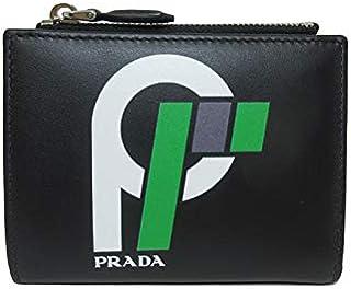 プラダ PRADA 財布 1ML023 レザー ロゴ 二つ折り財布 CITY SPORT FLAG/NERO+VERDE 【アウトレット】 [並行輸入品]