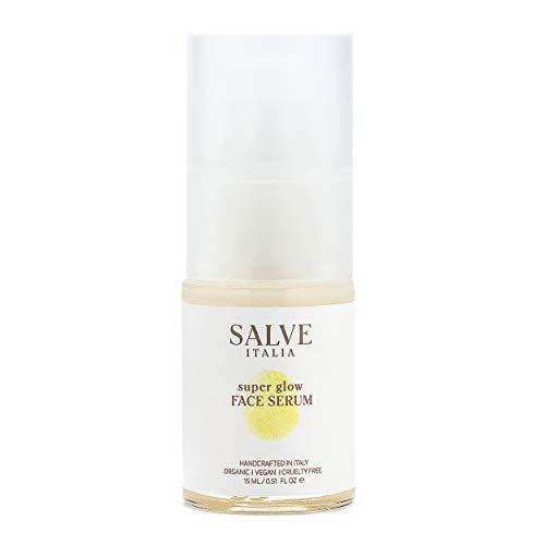 Salve Italia Skincare Super Glow Face Serum (0.5 Fl Oz) Anti-Aging Skin Care Facial Moisturizer with Hyaluronic Acid and Argan Oil for Men and Women - Vegan, Cruelty Free