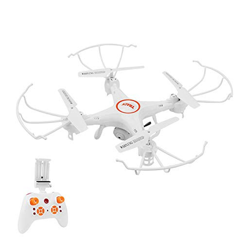 ERKEJI Drohne Fernsteuerung Quadcopter Spielzeugflugzeug 720P Luftbildkamera Echtzeitübertragung WiFi FPV VR 100 m Flughöhe