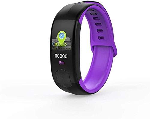 Reloj inteligente de 1,0 pulgadas, pantalla de seguimiento de la actividad física, podómetro, pulsera con mensaje, recordatorio inteligente Ip67, resistente al agua, color morado