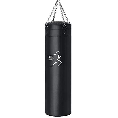 ArtSport Boxsack Set 30 kg gefüllt, Box Set mit 4-Punkt-Stahlkette & Karabinerhaken für Erwachsene, Sandsack 120 cm für Boxen und Kickboxen