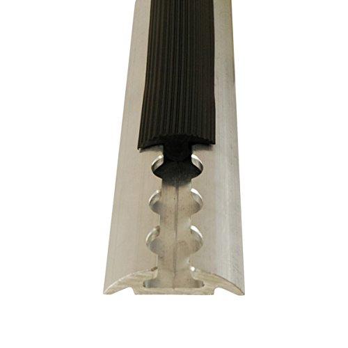 Abdeckprofil für Airlineschienen, 1,5 Meter, aus weichem und flexiblem Kunststoff, platzsparend verstaubar, schwarz