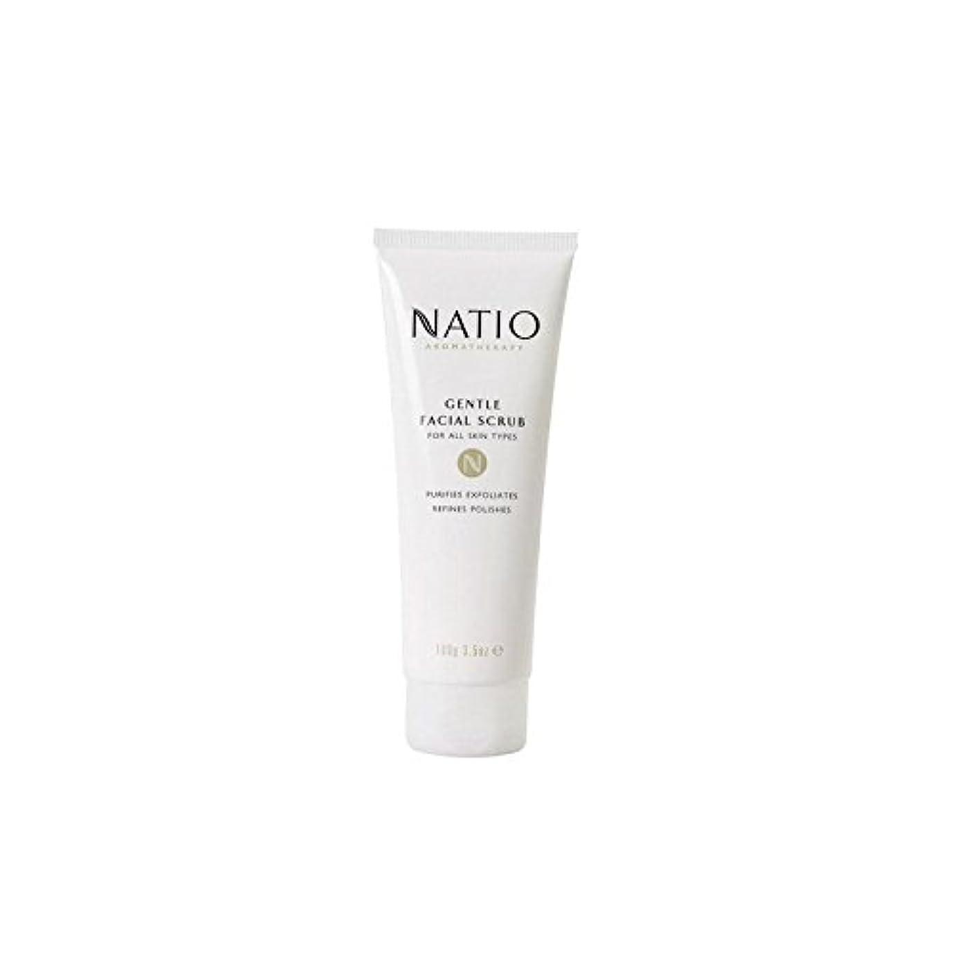 ねばねばエーカー雹Natio Gentle Facial Scrub (100G) - 優しいフェイシャルスクラブ(100グラム) [並行輸入品]