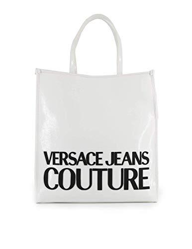 Versace Tasche Jeans Couture Shopper groß glänzend E1VVBBM9 71412 003 weiß