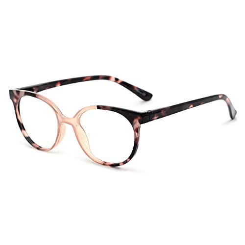 Gafas de Lectura Retro para Mujeres,Lentes HD Anti-Azul,Estilo de Diseñador,Gafas de Alta Gama para Ancianos,Moda Anti-radiación,Anti-Fatiga,Marrón Carey, 1.50