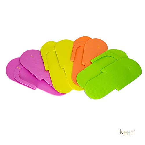 360 Pairs (1 case) Disposable Pedicure Slippers Foam Flip Flops SEWING Style for Nail Salon, Home Use ASSORTED COLORS