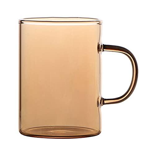 Jarra de vidrio de borosilicato resistente al calor, juego de té de agua fría/caliente, zumo/té helado, vino, café, jarra de bebidas de leche (tamaño C: