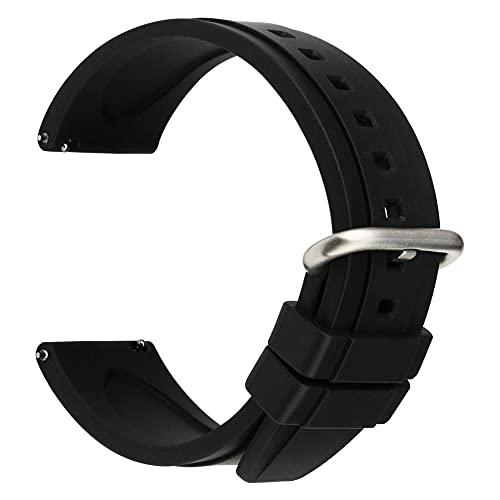 20mm 22mm Fluoro Goma Reloj Reloj Deporte Silicone Reloj Correa Reloje de liberación rápida Compatible con Huawei GT Casio Citizen Seiko Cierre de reemplazo