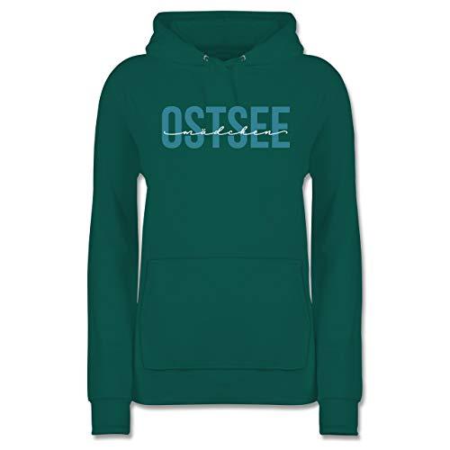 Statement - Ostsee Mädchen weiß - M - Türkis - Statement - JH001F - Damen Hoodie und Kapuzenpullover für Frauen