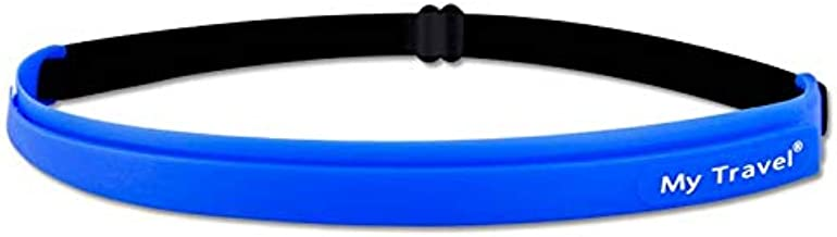 Aurora YM Adjustable Sports Headband with Non-Slip Silicone Sweat Belt, Yoga Hair Band; Headwear for Men and Women, Running, Gym, Exercise and Indoor and Outdoor Activities.