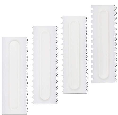 sopplea Set di raschietti per Decorare Pettine e glassa più Morbidi, 4 Pezzi.