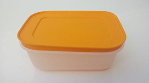 Tupperware Contenitore freezer congelare arancione fucsia contenitore con coperchio ermetico Congelatore congelatore - Arancione