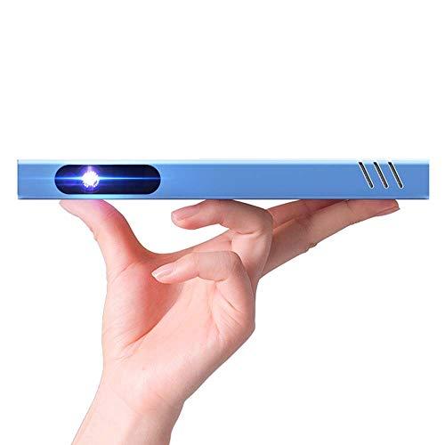 Proyector de vídeo de cine en casa Proyector portátil de bolsillo inalámbrico, móvil inteligente Proyector inalámbrico, mini portátil dormitorio HD de cine en casa 3D, conveniente for el aprendizaje B