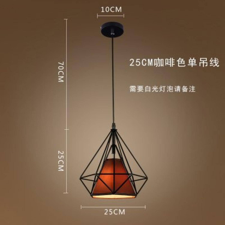 Luckyfree Kreative Moderne Mode Anhnger Leuchten Deckenleuchte Kronleuchter Schlafzimmer Wohnzimmer Küche, 25Cm schwarz Box Kaffee Abdeckung warmes Licht