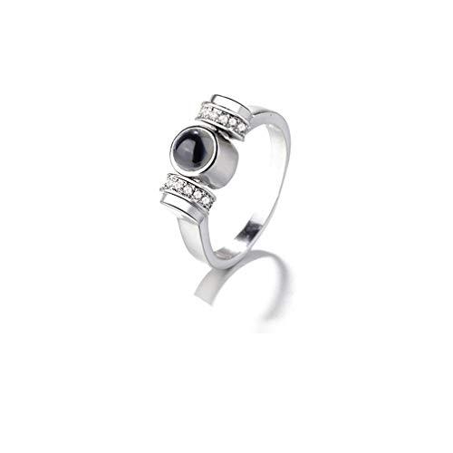925 Zilveren Ring IK HOU VAN JERing Gepersonaliseerde Aangepaste Foto Ring Vrouwen Projectie Ring Beste Cadeau Voor Vrouwen/Meisje