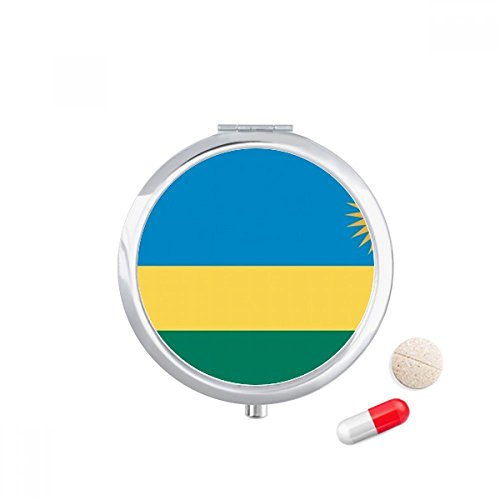 DIYthinker Rwanda Nationale Vlag Afrika Land Reizen Pocket Pill case Medicine Drug Storage Box Dispenser Spiegel Gift